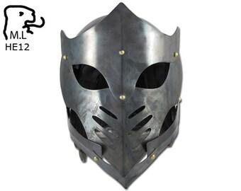 New Fantasy Medieval helmet stainless steel Armor Larp Ren Faire Gothic he12