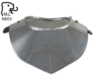 New Medieval style Gorget in stainless steel Armor Larp ne03