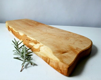 Cutting board live edge maple with natural oil finish eco friendly gift