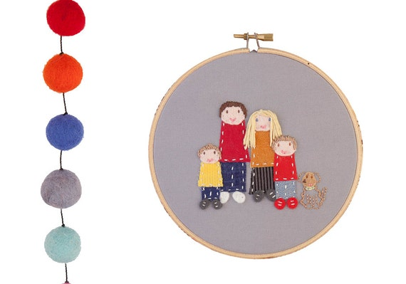 Custom family portrait of 5 - made to order by dandelyne