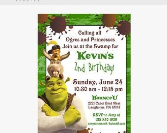 Shrek Birthday Invitation (5 X 7 Digital Invitation)