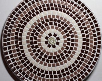 "12"" Decorative Mosaic Ceramic Tile Plate"