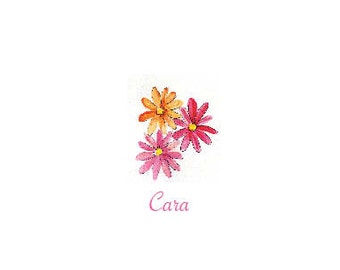 Personalized Stationery Daisy Note Cards