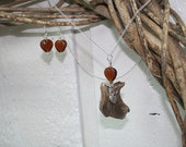 Heart of the earth necklace and earring set