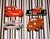 CARS AND FRIENDS  -  Fondant Cupcake, and Cookie Toppers - 1 Dozen