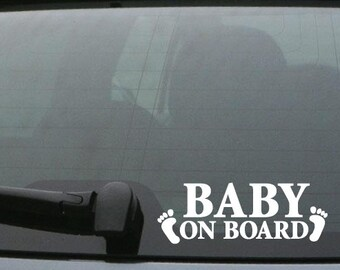 Generic BABY ON BOARD Vinyl Car Decal Bumper Sticker