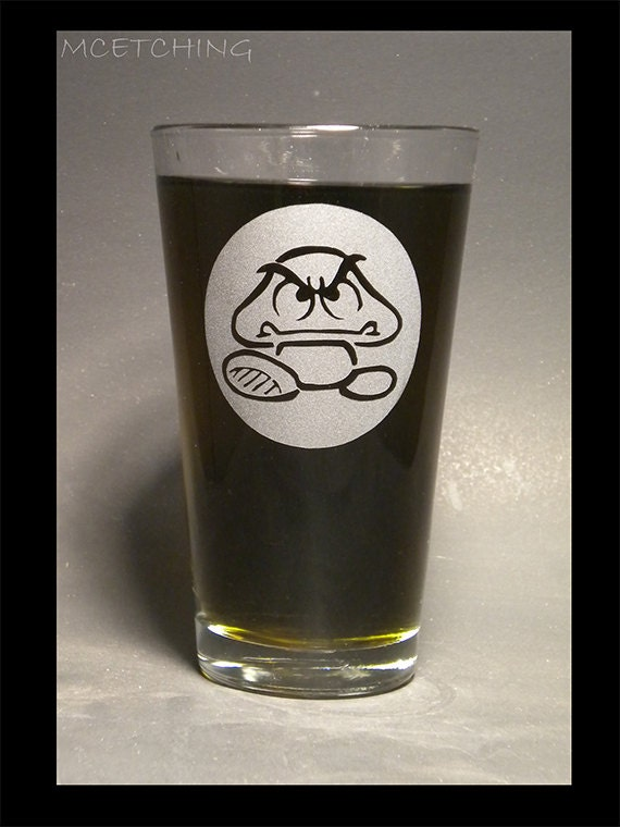 Goomba 16 oz pint glass