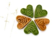 Ceramic Hearts Supplies Leaf Motief Eco Friendly Pottery
