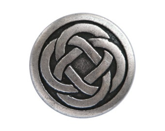 4 Celtic Knot 3/4 inch ( 19 mm ) Metal Buttons Antique Silver Color