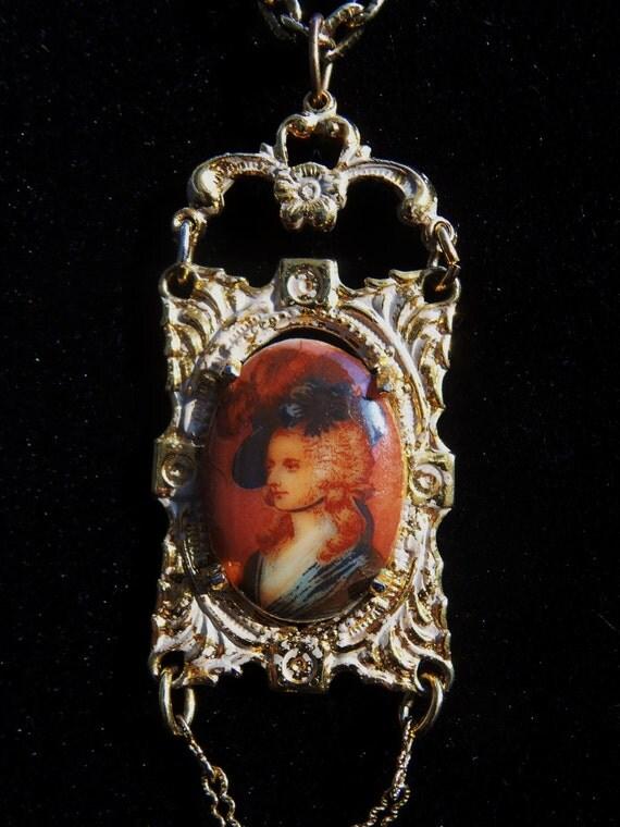 necklace portrait pendant