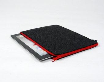 25% OFF Customized Felt iPad 1 2 3 4 Case New iPad Air Sleeve iPad Bag iPad Holder Wallet Zipper Closure New iPad E1027