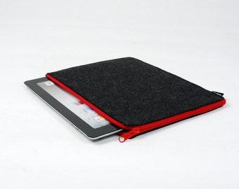 25% OFF Customized Felt iPad 1 2 3 4 Case New iPad Air Sleeve iPad Bag iPad Holder Wallet Zipper Closure New iPad E1027