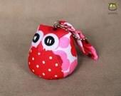 Love - Little Cute Owl Doll with Bag: plush, keychain, children, kid, baby, boy, girl, flower, red, pink, white