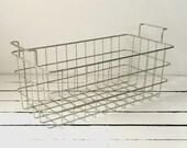 Vintage Metal Basket with Handles