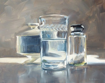 Oil Painting of White Objects