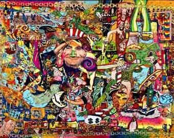psychadelic art ,grateful dead song poster