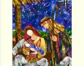"Gift sized ""One Silent Night"" print"