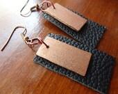 Wood & Leather Earrings