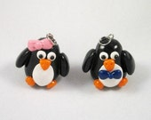 Mr. and Mrs. Penguin Clay Charm Set