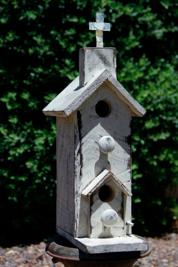 Antique Style Church Birdhouse Old West