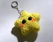 Kawaii Crochet Star Keychain