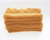 Extra long yellow honey gold warm mohair and lurex luxurious scarf.