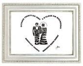 Informal Bride and Groom - Custom Personalized Wedding Print UNFRAMED