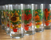 12 Days of Christmas Glasses in Original Box - Vibrant Colors, Beautiful Illustrations