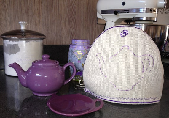 Tea For one, Cosy - Homemade embroidery teapot