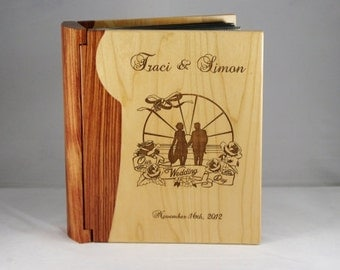 Engraved Custom Personalized Wedding Photo Picture Album Book