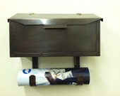 Copper Flush Mount Mailbox with Scroll Bronze Patina