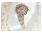 Awesome Feminine Light Lavender Comet Brooch  1895ag-041110000