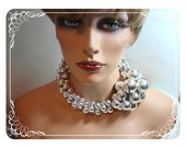 Reserved for unni øien ) Avant Guarde Necklace Set - Great Balls of Fire - Must C Lollapolusa Runway Worthy   1054ag-031912004