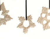 SINGLE Snowflake Ornament! Hand-drawn Porcelain.