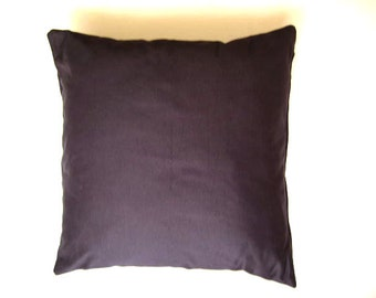 "Gabardine Gray Pillow Cover - Dark Grey, Anthracite - 18x18"" - Gift for Her, for Mom - Ready to Ship"
