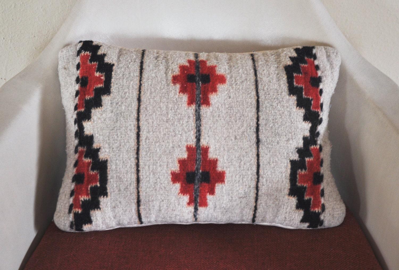 Vintage Southwestern Pillow : Vintage Native American Print Pillow