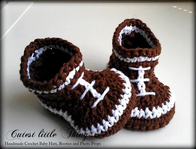 Football Crochet Baby Boy Booties Baby Boy Boots