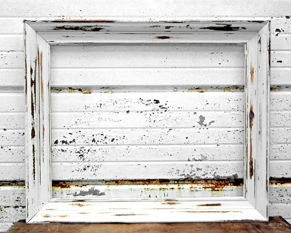 16 x 20 frame white rustic shabby chic distressed 16x20. Black Bedroom Furniture Sets. Home Design Ideas