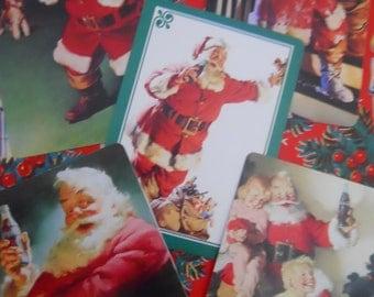 10 Nostalgic Vintage Coca-Cola Santa Claus Playing Cards