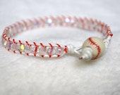 swarovski crystal baseball bracelet