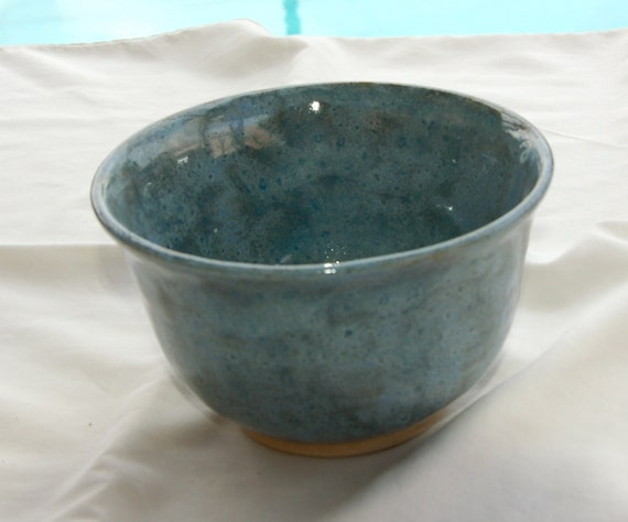 Small Planter/Pot with Hole in Bottom for Drainage in Blues from Pottery by Saleek