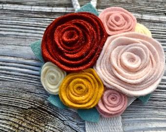 Barrette Holder -  in Garnet, Peach, Gold, Blush, Cream