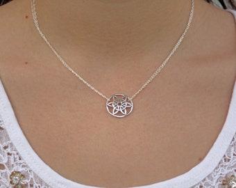 DOMED CELTIC SUN - sterling silver celtic knot sun/flower symbol
