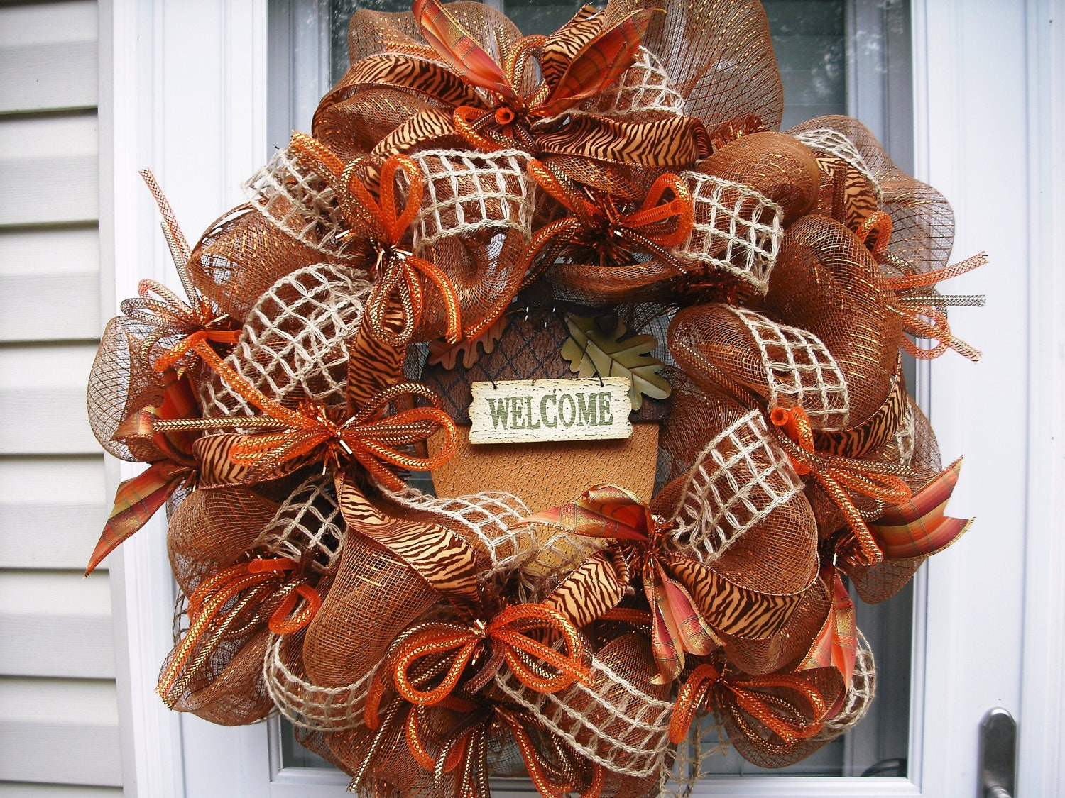 Thanksgiving Deco Mesh Wreath By Wreathsetc On Etsy