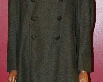 vintage 1942 marine officer full length wool coat size 42