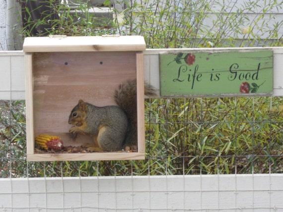 Large Cedar Squirrel Feeder