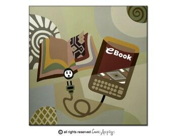 Original Acrylic on Canvas Painting, Original Art on Canvas, Ebook Design Wall Art Decor, Cream, Beige, Tan, Brown
