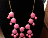Pink Bubble Statement Necklace