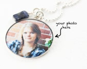 Photo Necklace | Picture Pendant | Personalized Photo Charm | Sterling Photo Necklace