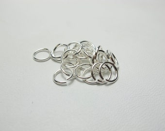 8mm Silver Plated Jump Rings #339-128